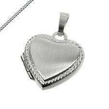 Medaillon kleines Herz 925 Silber Amulett klein auch Kette und Gravur wählbar