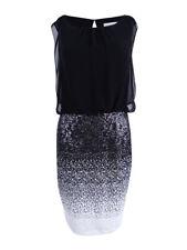 Calvin Klein Women's Sequined Blouson Sheath Dress