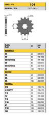 SUNSTAR PIGNONE PASSO 420 DENTI a SCELTA per KAWASAKI 80 KX 1981 - 2000