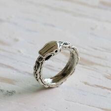 ouroboros snake ring dragon silver sterling celtic khaleesi biker gypsy jewelry