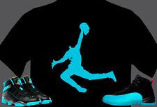 T shirt  MADE TO MATCH Jordan Shoe Gamma Blue Zombie Dead Man Jumping Spoof  NWT