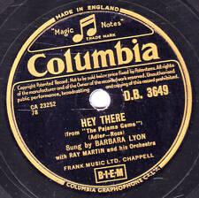 "RARE BARBARA LYON 78  ""HEY THERE""  COLUMBIA DB 3649 EX+"