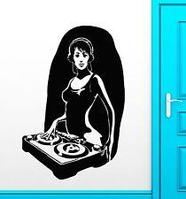 Wall Stickers Vinyl Decal Hot Sexy Girl DJ Music Nightclub Sound Party (ig1798)