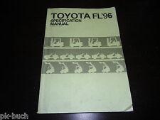 Handbuch Gabelstapler Forklift Specification Manual Stand Dezember 1995