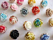 7 hübsche Knöpfe Farbe wählbar,ca.18mm K 154 zweifarbig Blumen