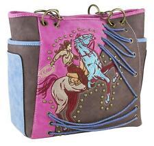 Casual Western Handbag Shoulder Bags Embroidered Cowgirl Concealed Carry Pocket