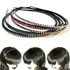 Swarovski Crystal Rhinestone Hair Jewelry Slim Thin Headband Hairband Headpiece