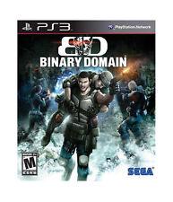 Binary Domain PS3 Network Playstation 3 New  & Sealed FREE SHIPPING  Sega
