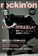 LADY GAGA ROCKIN'ON JAPAN EDITION MUSIC MAGAZINE 2011 COVER BORN THIS WAY BLAKE
