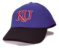 Kansas Jayhawks 2 Tone Focus NCAA Flex Fit Cap Hat