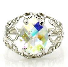 MERCURY MIST TOPAZ Sterling Silver Ladies Ring - Handmade • SR162