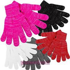 Guanti donna tricot invernali lurex filamenti argento idea regalo nuovi GL-091