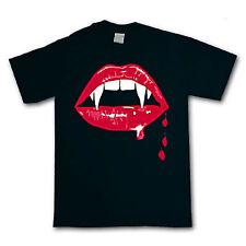 Fangs T-Shirt - Vampire Rocky Horror Twilight Buffy Goth Halloween -Sizes S-XXXL