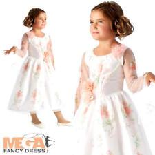 Live Action Celebration Belle Girls Costume Disney Kids Book Day Fancy Dress