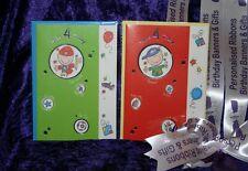 Happy 4th birthday card VIBRANT TENDANCE COOL DUDE boy 4YR ans hz