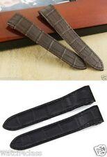 24.5mm Genuine Leather Band.Strap.bracelet Santos chrono 100 XL replacement
