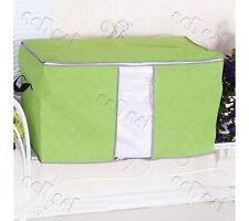 Bamboo Charcoal Foldable Closet Storage Organizer Bag Box 4 Clothes Pillow Green
