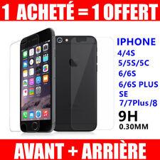 Vitre AVANT+ARRIÈRE Film de Protection en Verre Trempé iPhone 7 / 8 6/6S/Plus/5S
