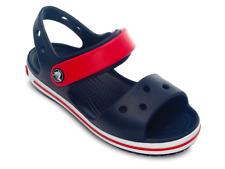 Sandali Crocs Crocband sandal kids bambino blu in gomma estate mare con strappi