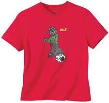 Jack Wolfskin Kids Soccer Red T-Shirt Kindershirt Fußball T-Shirt rot