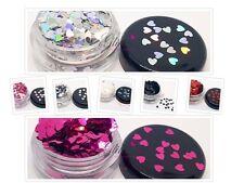 A forma di cuore e Arcobaleno Olografico Metallico Glitter per Nail Art