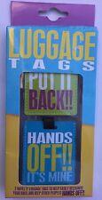 Paquete De 2 etiquetas de equipaje con ponerla & manos de su detalle de minas