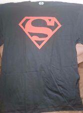 Superman Red Logo Black Tee