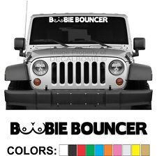 Boobie Bouncer Windshield Decal Sticker Turbo Car Truck Diesel Race Atv boobs