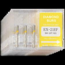 10 Boxes EX-21EF MANI DIA-BURS Dental High Speed Handpiece Diamond Burs FG 1.6mm