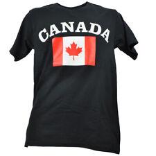 Canada Flag Canadian Mens Tshirt Black Tee Short Sleeve Crew Neck Country