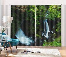 Ryūzu Falls Japan 3D Blockout Photo Mural Printing Curtains Draps Fabric Window