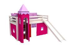 HOOG BED GABI met glijbaan , kinderbed , lattenbodem , matras ,tower,speelgordi