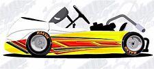 Speed go kart race car vinyl graphic decal wrap