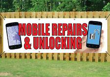 TELEFONO negozio riparazioni & Sblocco Banner Outdoor segni Impermeabile in PVC con occhielli