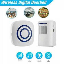 Motion Sensor Wireless Detector Alarm Infrared Home Security Alert Doorbell RD