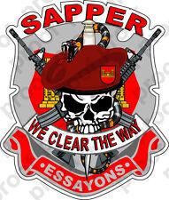 STICKER US ARMY SAPPER SKULL Logo