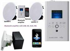Inalámbrico Bluetooth estéreo los altavoces de techo Kit Fm Usb Aux Sd Pared remoto