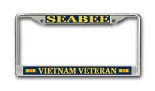 Seabee Vietnam Veteran License Plate Frame - American Made - Veteran Approved!