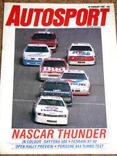 Autosport 18/2/88* BRITISH SEASONAL SURVEYS - ENZO FERRARI INTERVIEW - DAYTONA