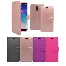 para Samsung Galaxy A6 2018 Libro De Cartera Abatible en varios colores FUNDA
