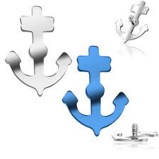 Top 16 Gauge Internally Threaded Titanium Ship Anchor Designed Dermal Anchor