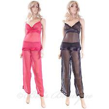 Damas De Lujo Puro Cami Pijamas Waites Lingerie 1012 PJ 'S Talla S M L Rojo Negro