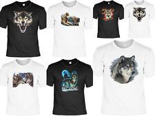 Wolf T-Shirt - Wölfe T-Shirt - Tiermotiv - Indianer Country - Wolfskopf Motiv