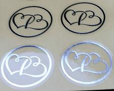 50/100/150/200 Envelope Sticker Seals Engagement Wedding Invitations Silver Gold
