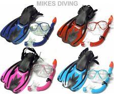 COMPLET 3 pièces enfants Snorkeling Ensemble - masque palmes Palmes Tuba -