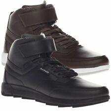 Boxfresh Para hombre correa cuero Ampton Hi Top Informal Zapatillas Zapatos Negro Marrón