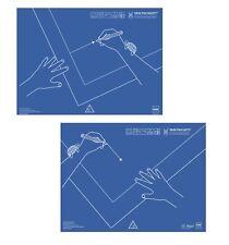 Schreibunterlage Dr. Sattler, Kunststof,  50 x 43 cm, Linkshänder / Rechtshänder