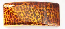 French Handpainted Leopard Print Medium Hair Barrette Cellulose Tortoise P42