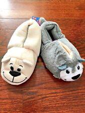 New FlipaZoo 2-in-1 Husky to Polar Bear Plush Slippers Jay at Play 10/11 12/13