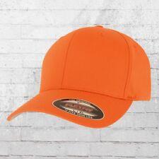 Flexfit Mütze Blanko Baseball Cap Classic orange Haube Basecap Cappy Capi Kappe